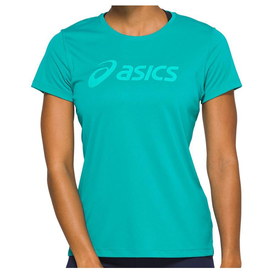Asics Women's Silver Asics Top Laufshirt Lagoon Sea Glass | XS