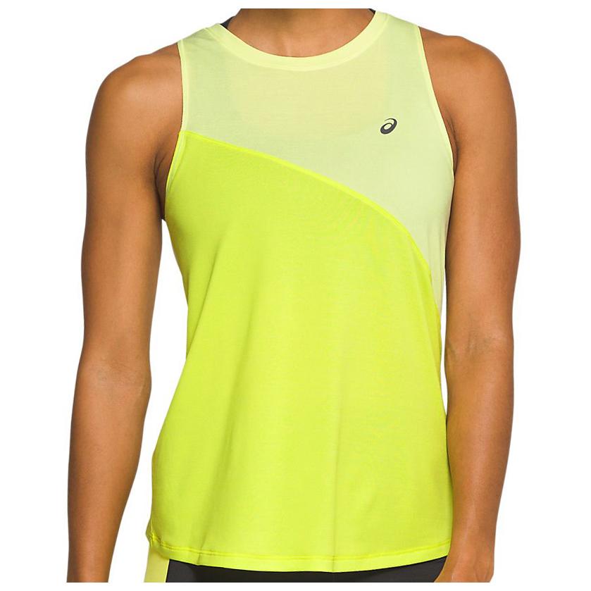 Asics - Women's Tokyo Tank - Running shirt - Huddle Yellow / Sour Yuzu | XS