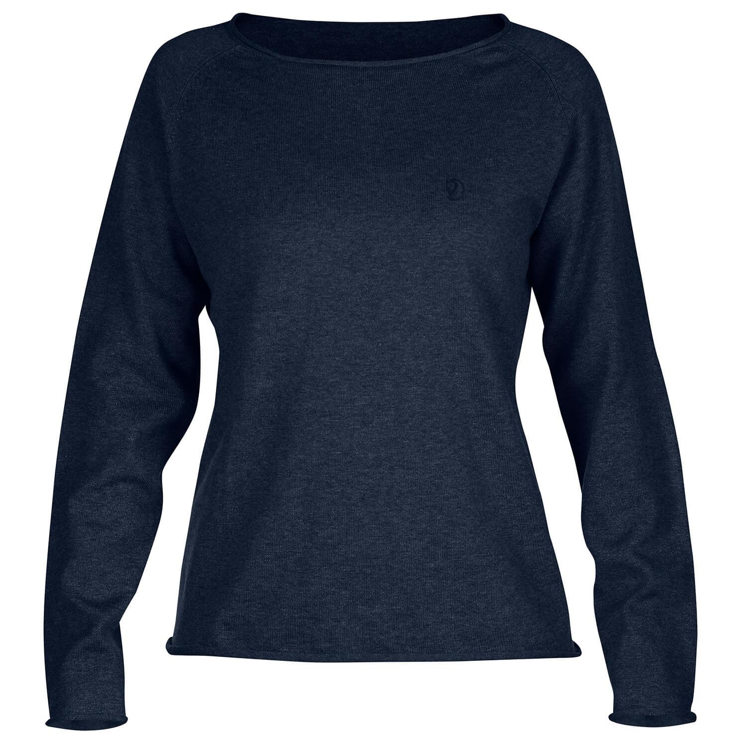 39be560798d6 Fjällräven - Women's Övik Sweater - Jumper - Dark Navy | XS