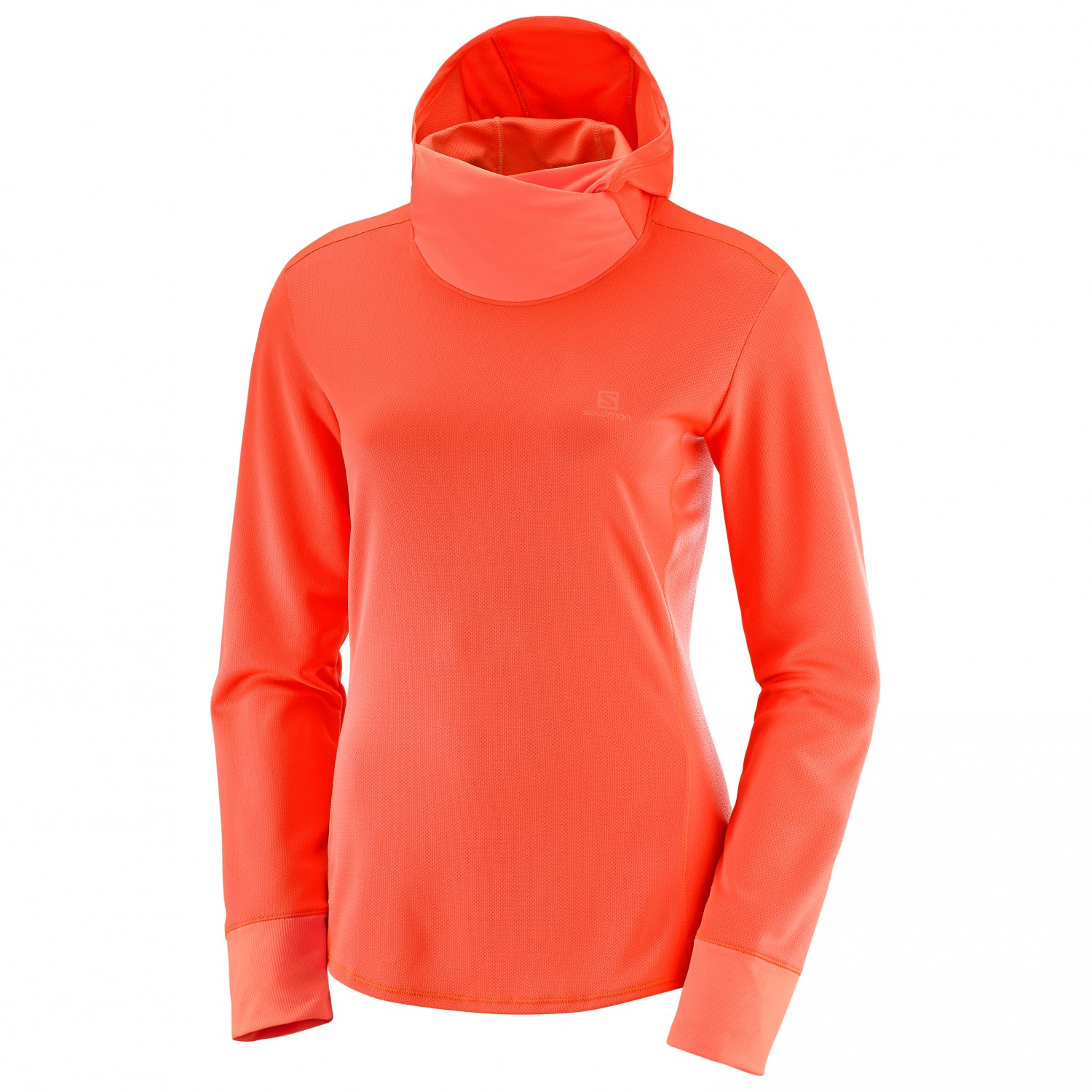 Ls Salomon Sweat Coral Fiery Agile Capuche Women's À HeatherXs Hoodie xrCBedoW