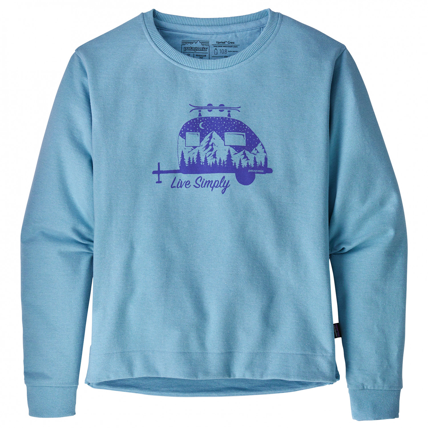 new concept 0bb5c b3cab Patagonia - Women's Live Simply Trailer Uprisal Crew - Pullover - Break Up  Blue | S