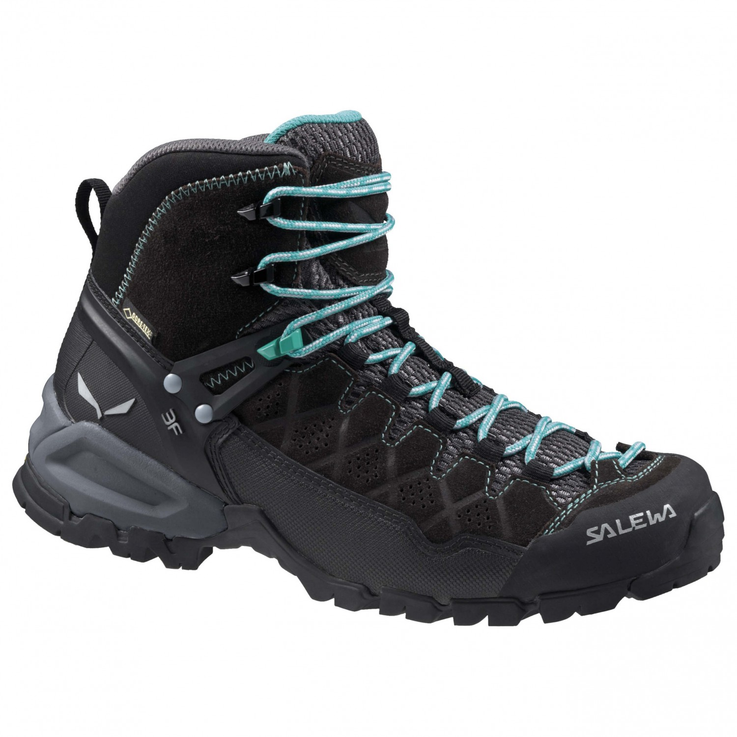 Salewa - Women's Alp Trainer MID GTX - Wanderschuhe Black Out / Agata