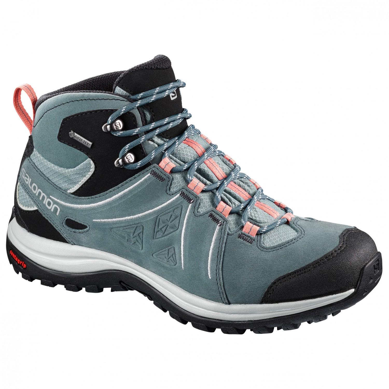 reputable site 6d186 639ab Salomon - Women's Ellipse 2 Mid Leather GTX - Scarpe da trekking - Phantom  / Castor Gray / Aruba Blue | 4,5 (UK)