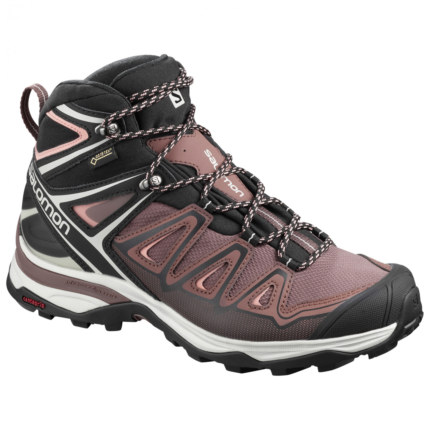 Salomon - Women's X Ultra 3 Mid GTX - Walking boots - Shadow / Castor Gray  / Beach Glass | 5 (UK)