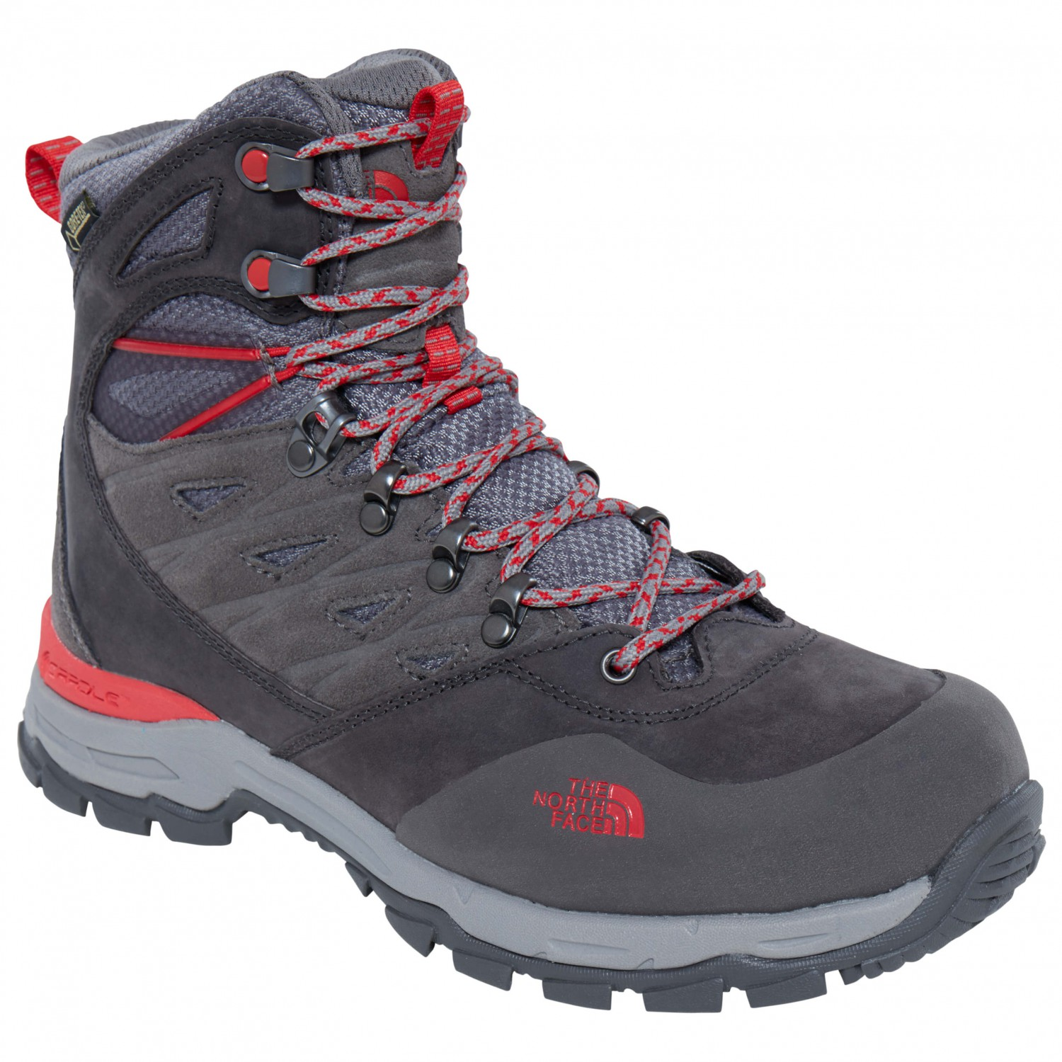 009af4846c The North Face - Women's Hedgehog Trek GTX - Walking boots - Dark Gull Grey  / Melon Red | 6,5 (US)