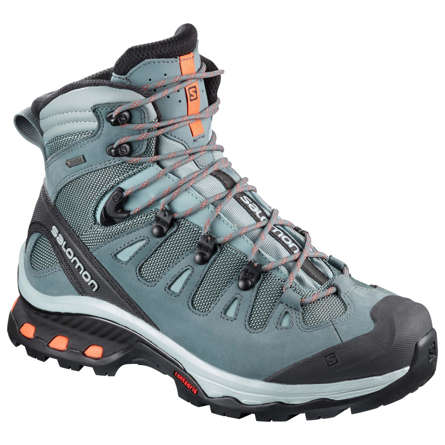 Salomon - Women's Quest 4D 3 Gtx - Walking boots - Lead / Stormy Weather /  Bird Of Paradise | 8 (UK)