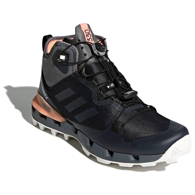adidas - Women's Terrex Fast Mid GTX-Surround - Wandelschoenen - Core Black  / Grey Five F17 / Chalk Coral S18 | 4,5 (UK)