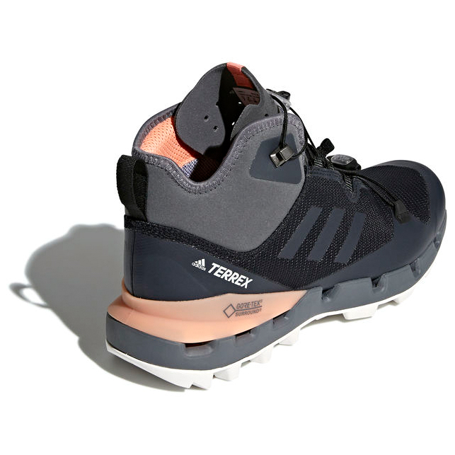 adidas - Women's Terrex Fast Mid GTX-Surround - Wanderschuhe - Core Black /  Grey Five F17 / Chalk Coral S18 | 4 (UK)