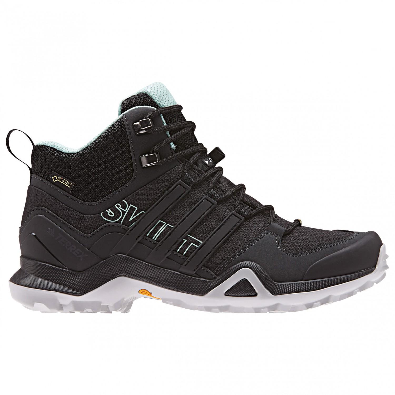 adidas - Women's Terrex Swift R2 Mid GTX - Wandelschoenen - Core Black /  Core Black / Ash Green | 3,5 (UK)