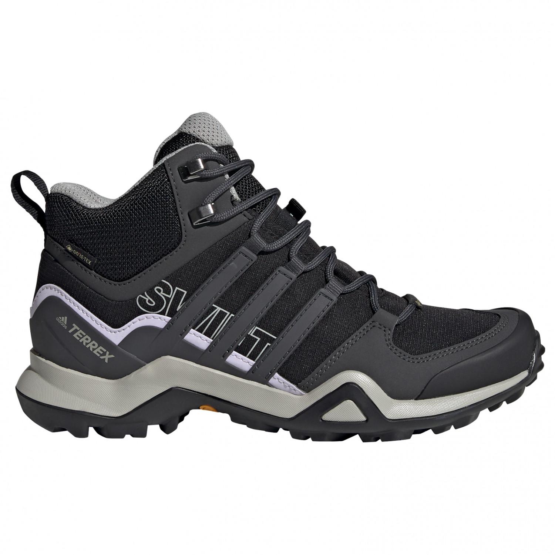 adidas - Women's Terrex Swift R2 Mid GTX - Walking boots - Core Black / Dgh Solid Grey / Purple Tint | 3,5 (UK)