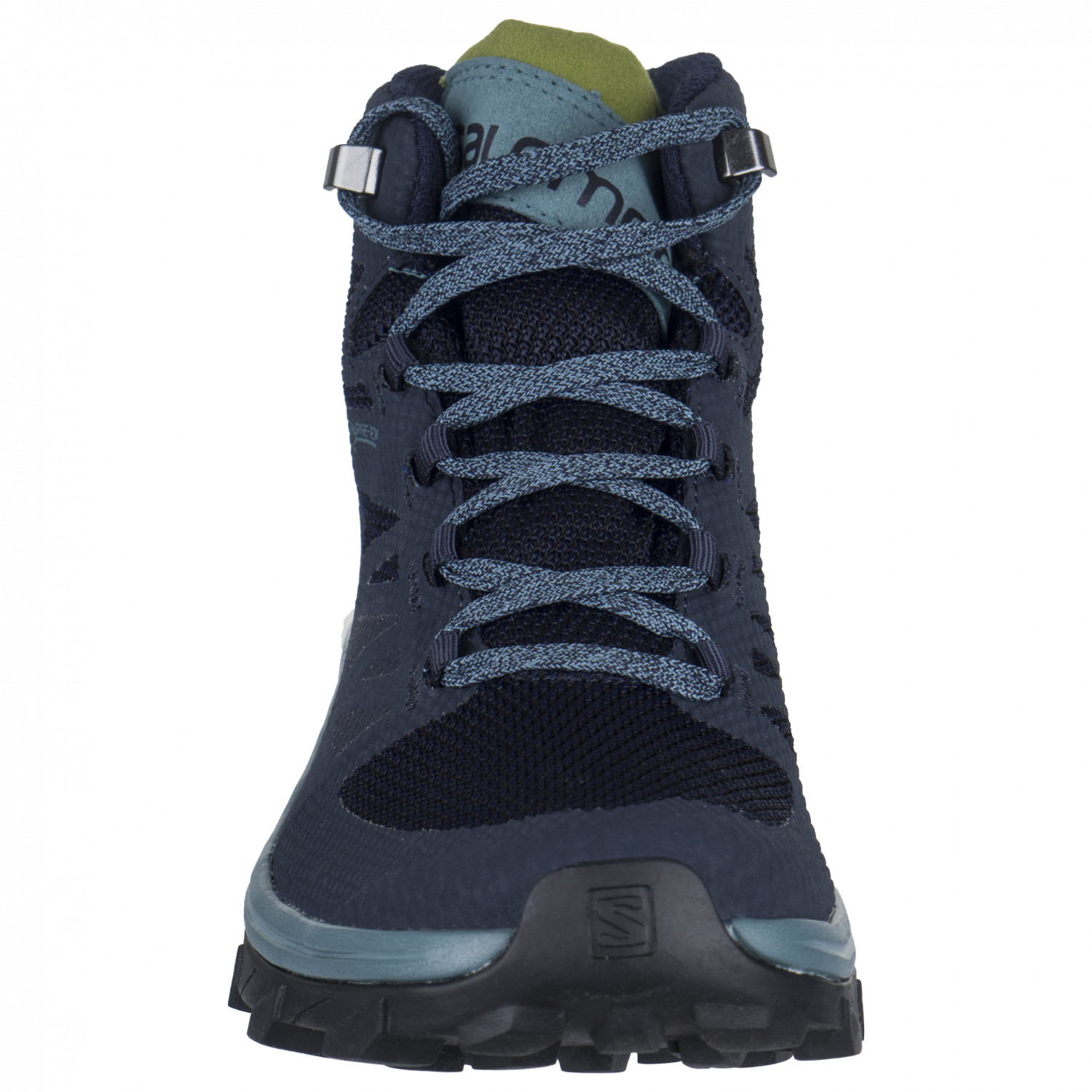 Salomon Women's Outline Mid GTX Wanderschuhe Navy Blazer Hydro Guacamole | 4 (UK)