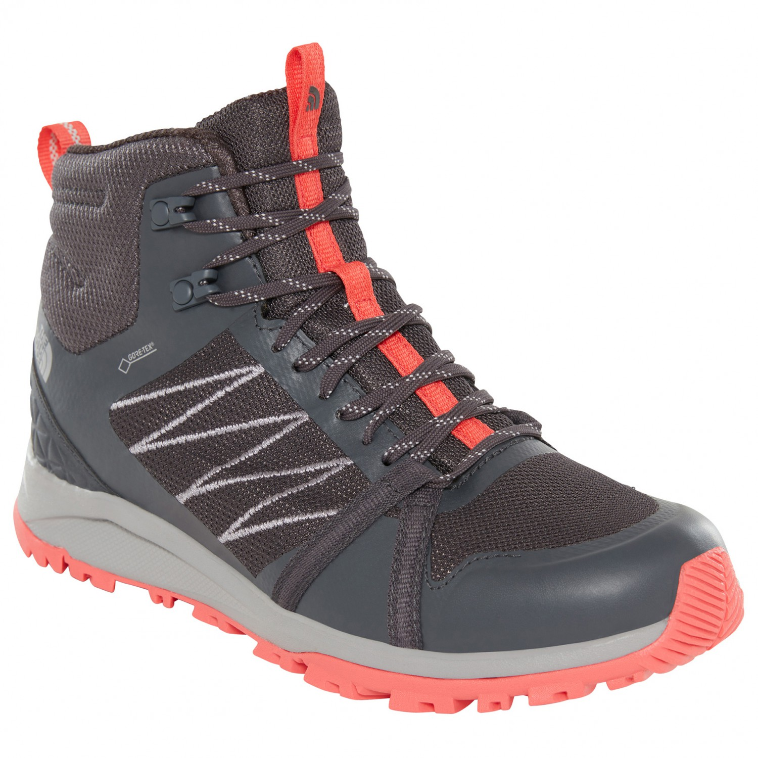 popularna marka na sprzedaż online super promocje The North Face - Women's Litewave Fastpack II Mid GTX - Walking boots -  Ebony Grey / Fiesta Red | 6 (US)