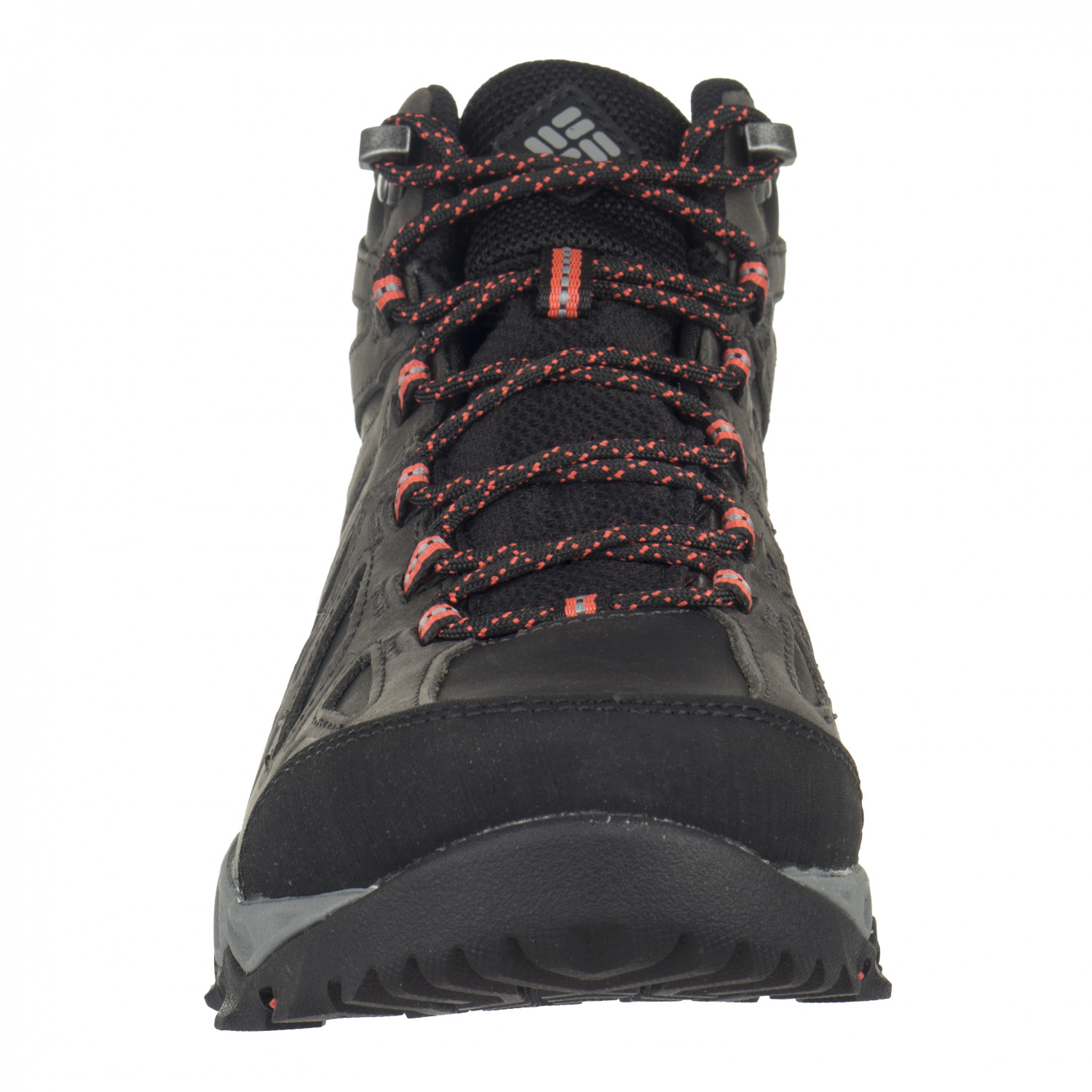 Columbia Women's Lincoln Pass Mid Leather Outdry Wanderschuhe Black Red Camelhia | 6 (US)