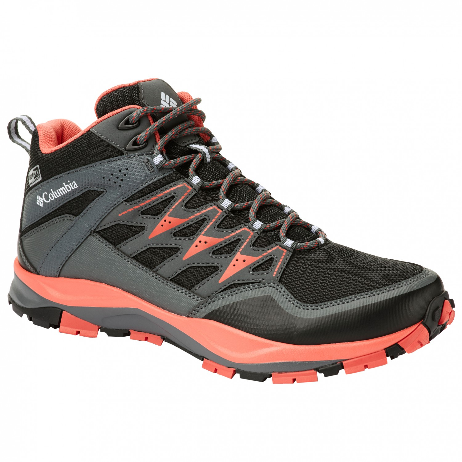 0af276798b08e Columbia - Women's Wayfinder Mid Outdry - Walking boots - Black / Red Coral  | 6 (US)