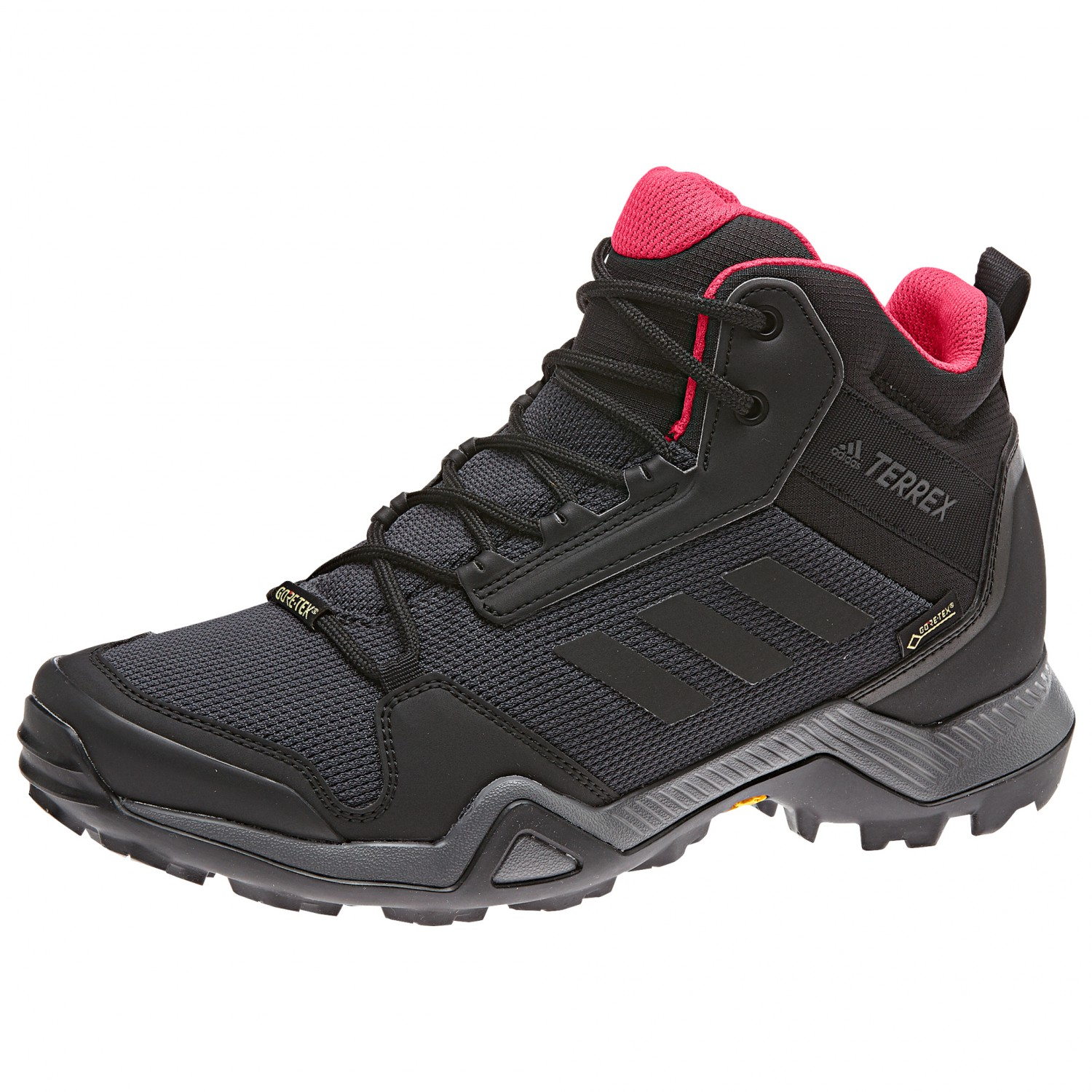 adidas - Women's Terrex AX3 Mid GTX - Walking boots - Grey Five / Core  Black / Clemin | 3,5 (UK)