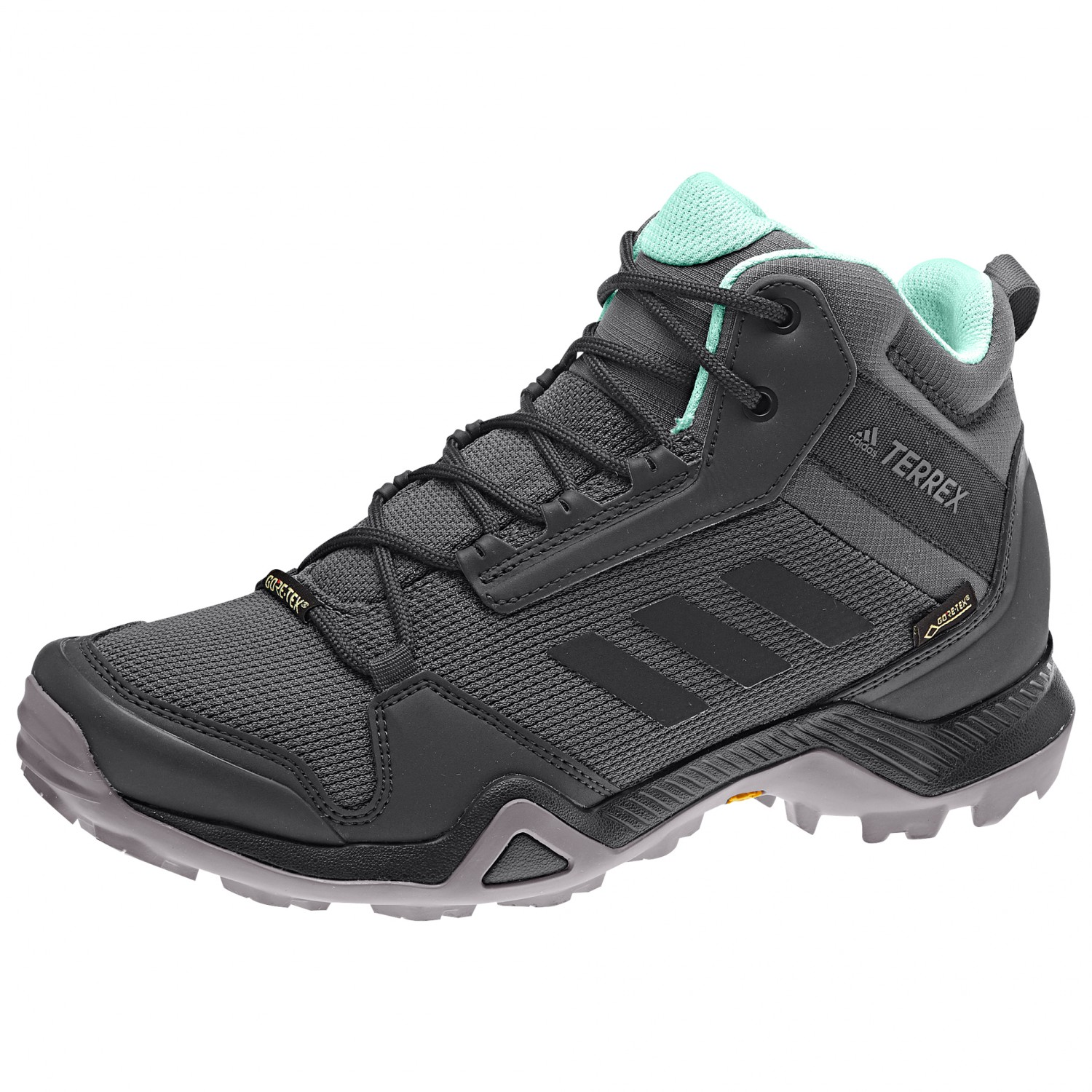 adidas Women's Terrex AX3 Mid GTX Wandelschoenen Grey Five Core Black Clemin | 4 (UK)