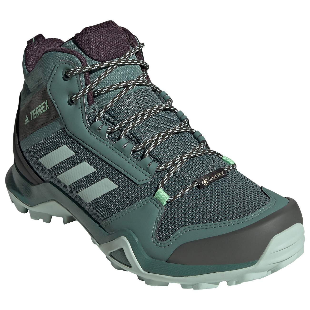 adidas - Women's Terrex AX3 Mid GTX - Wandelschoenen - Core Black / Dgh  Solid Grey / Purple Tint | 4 (UK)