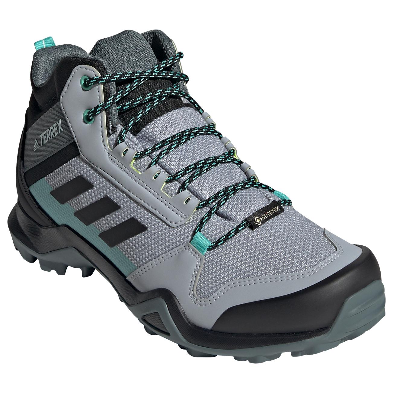 adidas - Women's Terrex AX3 Mid GTX - Chaussures de randonnée - Core Black / Dgh Solid Grey / Purple Tint | 4 (UK)