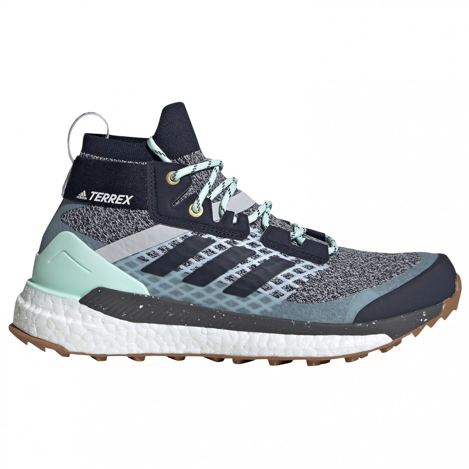adidas - Women's Terrex Free Hiker - Walking boots - Carbon / Blutin / Ash  Grey | 4 (UK)