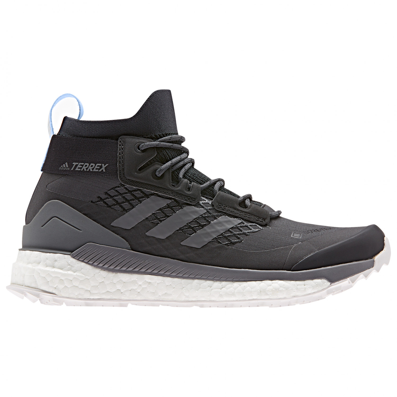 adidas Women's Terrex Free Hiker GTX Botas de trekking Carbon Grey Four Glow Blue | 3,5 (UK)