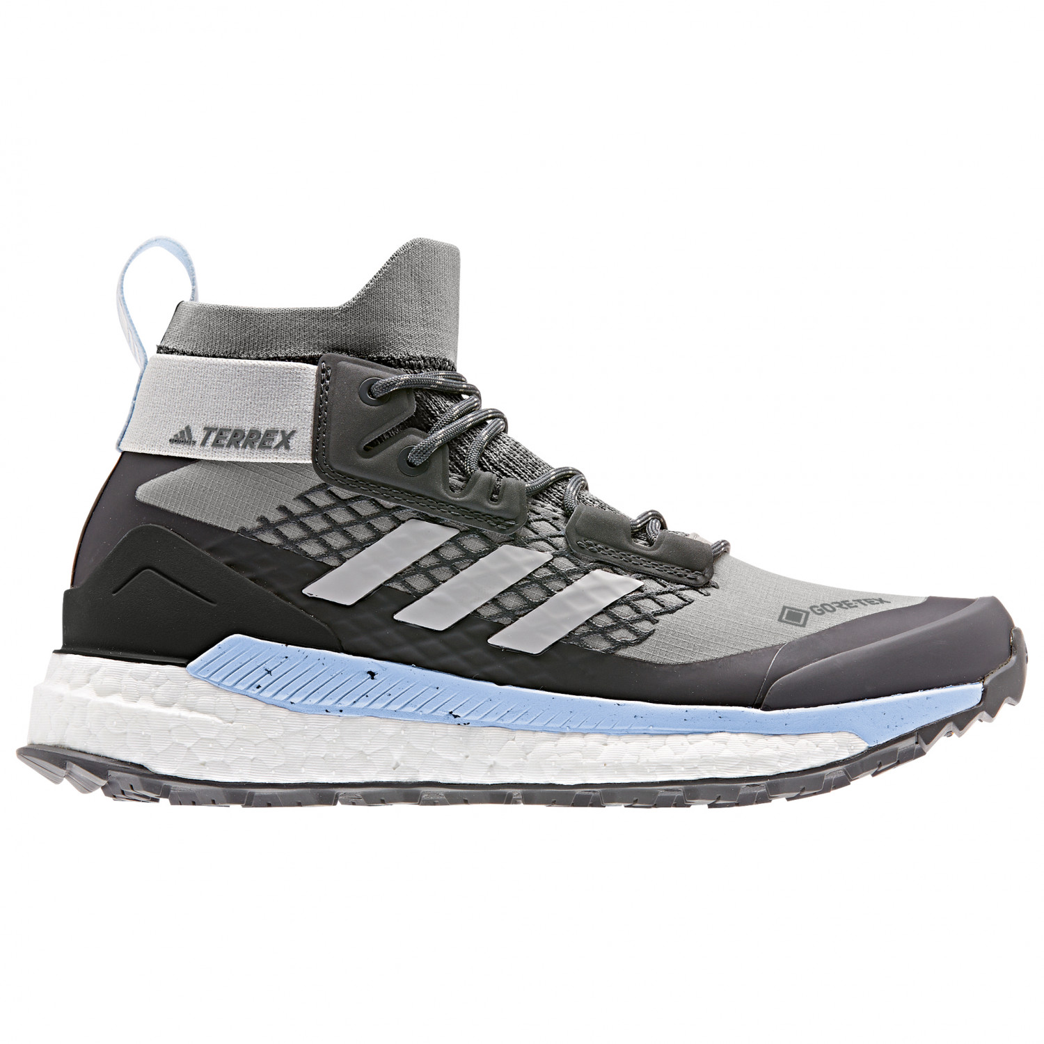 adidas - Women's Terrex Free Hiker GTX - Botas de trekking - Carbon / Grey  Four / Glow Blue | 3,5 (UK)