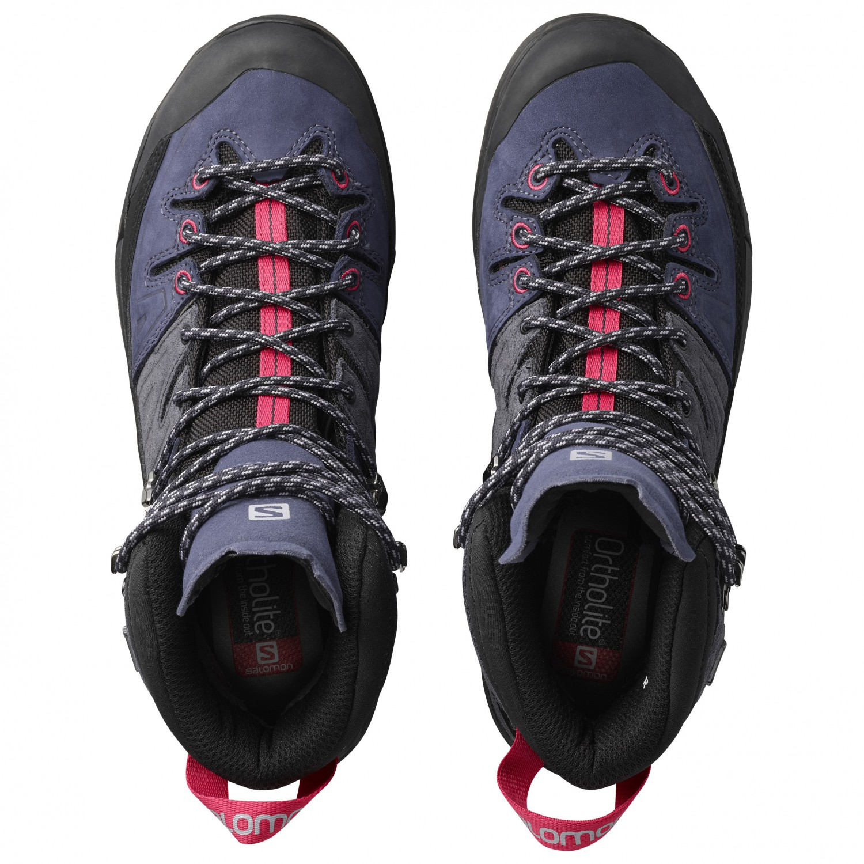 Salomon Pink4uk X Gtx Chaussures Alp Leather Women's Graphite High Montagne Crown De Blue Virtual rxtsdBohCQ