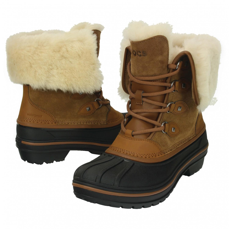 best service c1eb6 daca0 Crocs - Women's AllCast II Luxe Boot - Winterschuhe - Wheat | W10 (US)