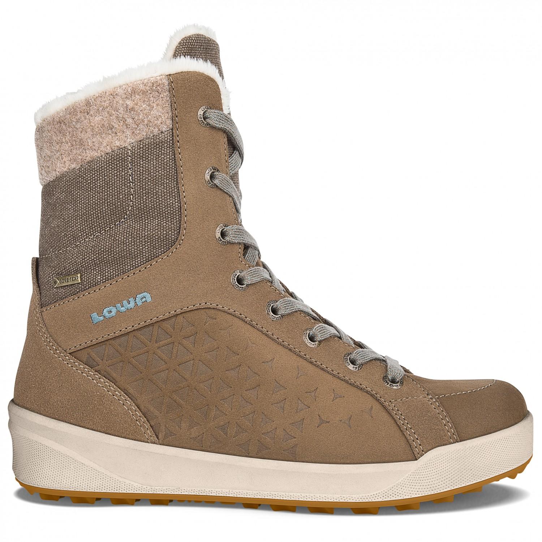 3706035d606 Lowa - Women's Fiss GTX Mid - Winter boots - Taupe / Blaugrau | 4 (UK)