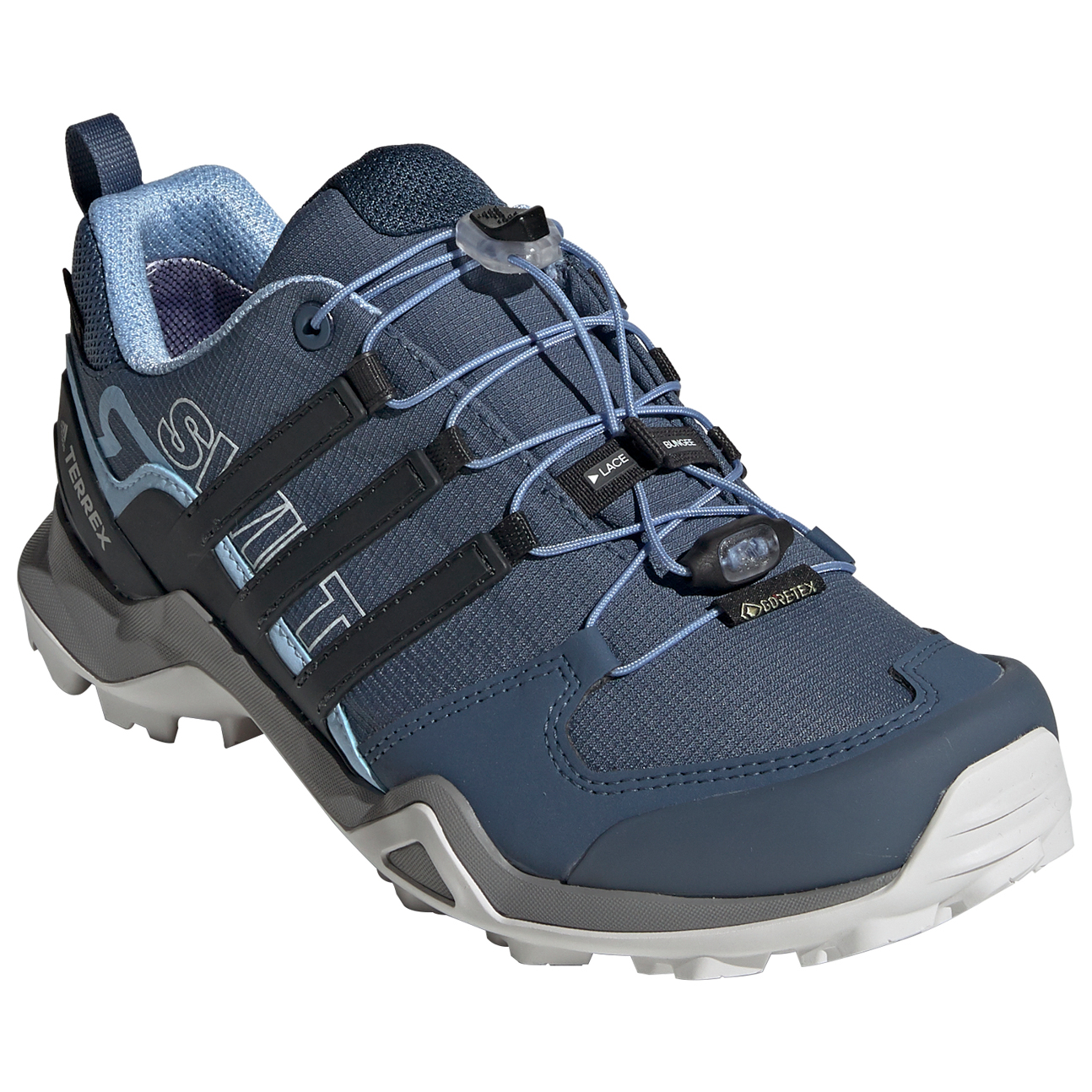 uk availability 2ff13 18ce1 adidas - Women's Terrex Swift R2 GTX - Multisport shoes - Tech Ink / Carbon  / Glow Blue | 4 (UK)