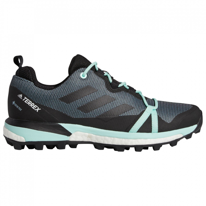 adidas - Women's Terrex Skychaser LT GTX - Multisport shoes - Carbon / Core  Black / Active Pink | 3,5 (UK)