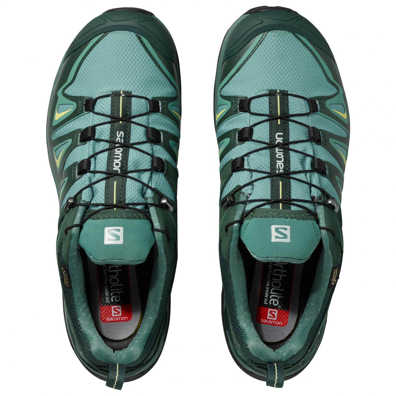Salomon - Women's X Ultra 3 Wide GTX - Multisport shoes - Artic / Darkest  Spruce / Sunny Lime | 4 (UK)