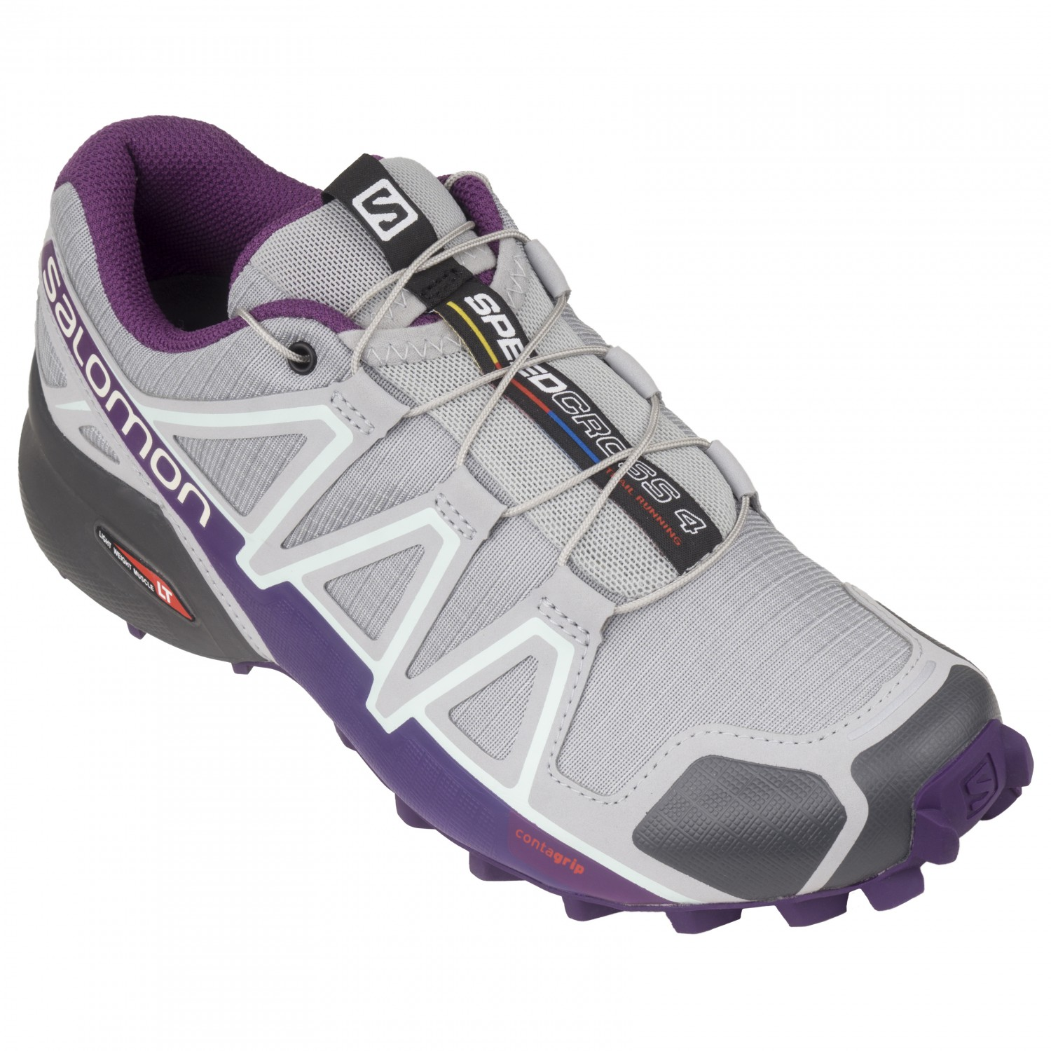Salomon - Women's Speedcross 4 - Trailrunningschuhe Quarry / Acai / Fair Aqua