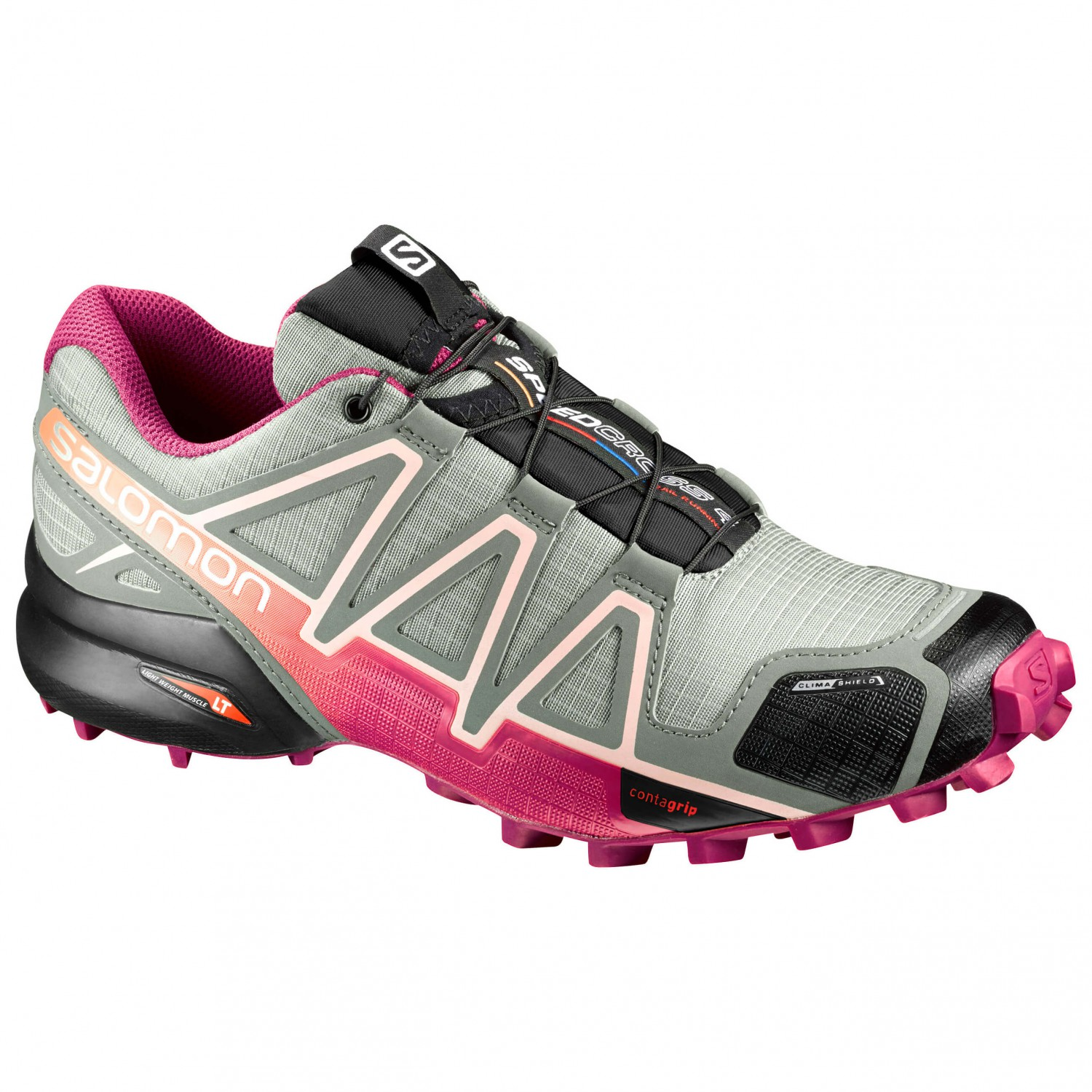 new arrival c6182 acdd7 Salomon - Women s Speedcross 4 CS - Trailrunningschuhe Shadow   Sangria    Peach Nectar