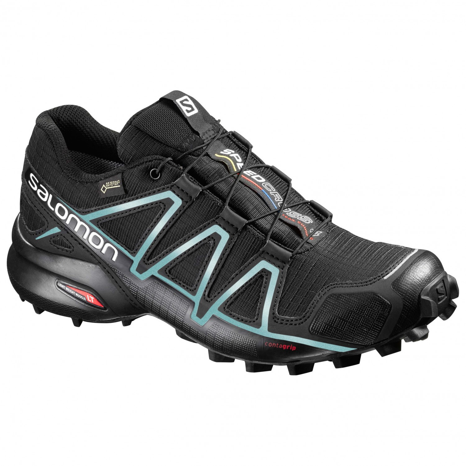 Salomon - Women's Speedcross 4 GTX - Trailrunningschuhe Black / Black / Metallic Bubble Blue