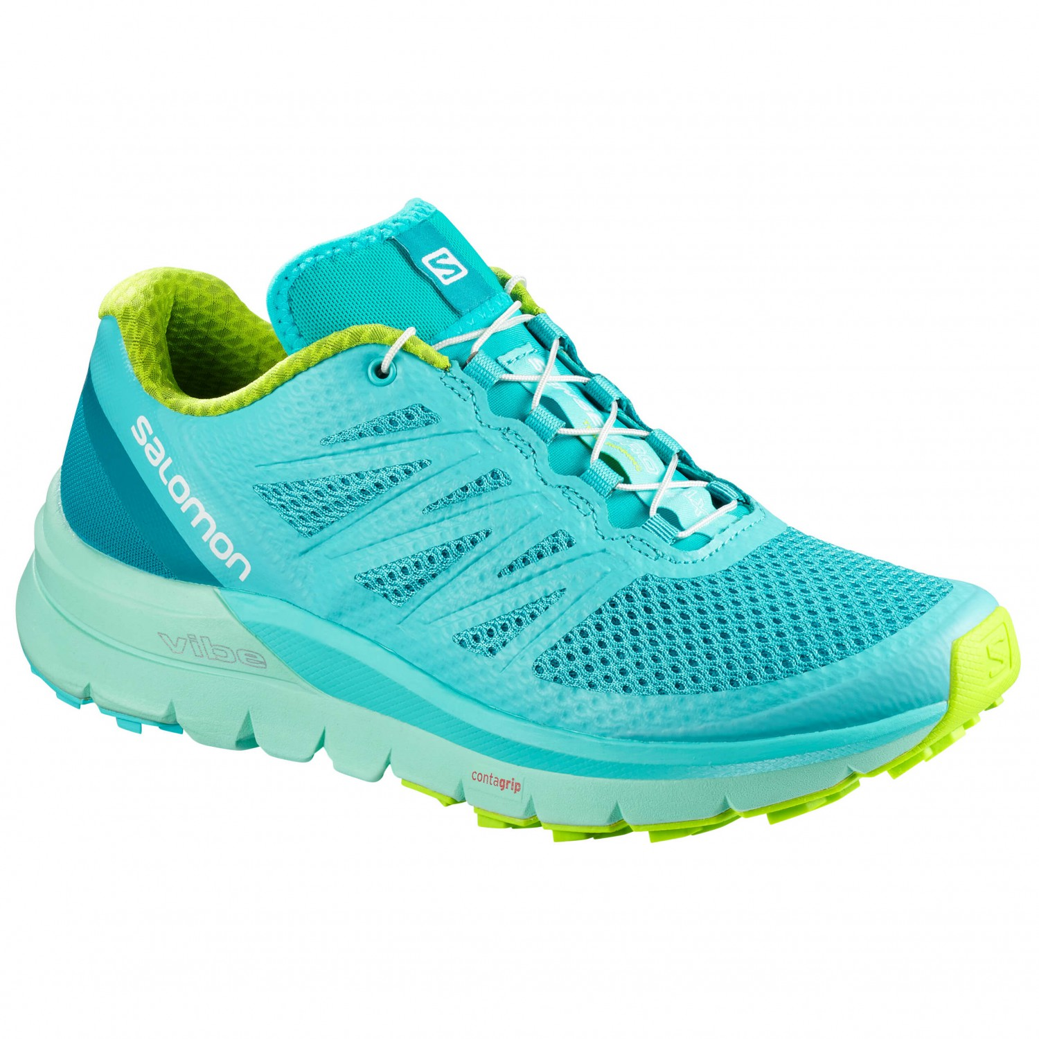 Salomon - Women's Sense Pro Max - Trailrunningschuhe Blue Curacao / Beach Glass / Acid Lime