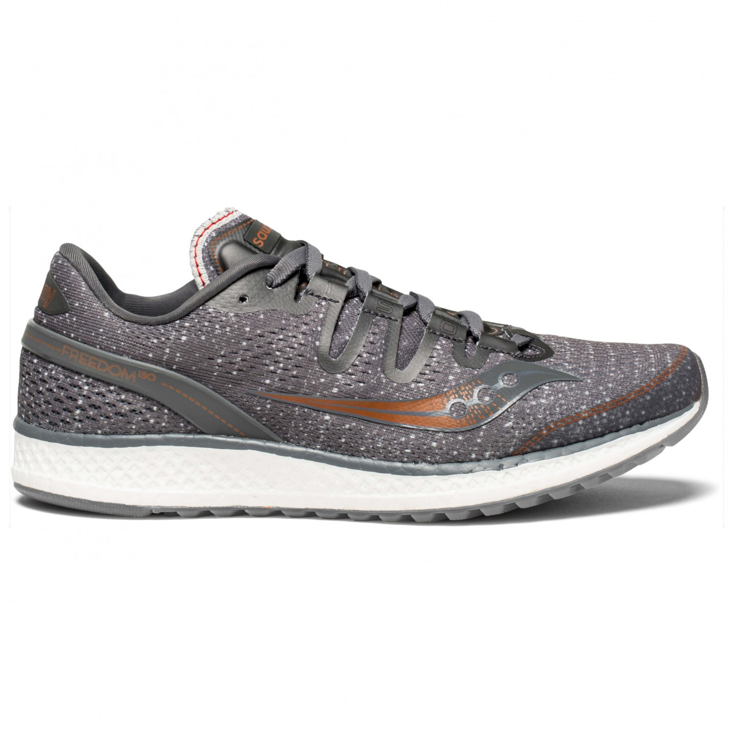 75ab8604fe Saucony - Women's Freedom Iso - Running shoes - Grey / Denim / Copper | 6,5  (US)