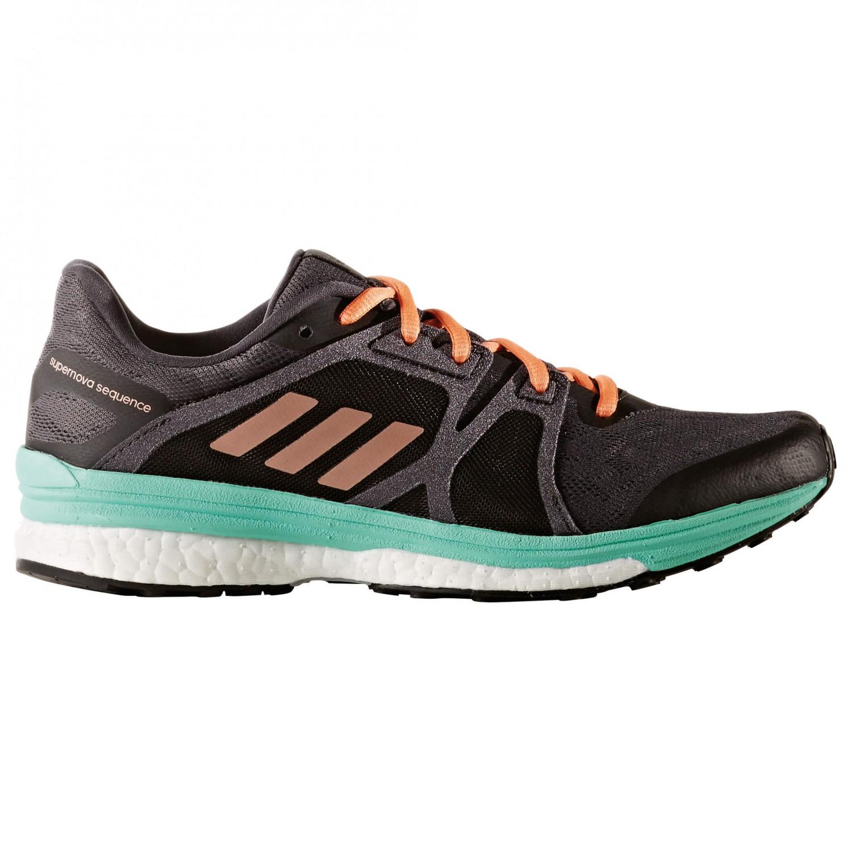 adidas - Women's Supernova Sequence 9 - Runningschuhe Utility Black F16 / T Rust MetS17 / E Green S17