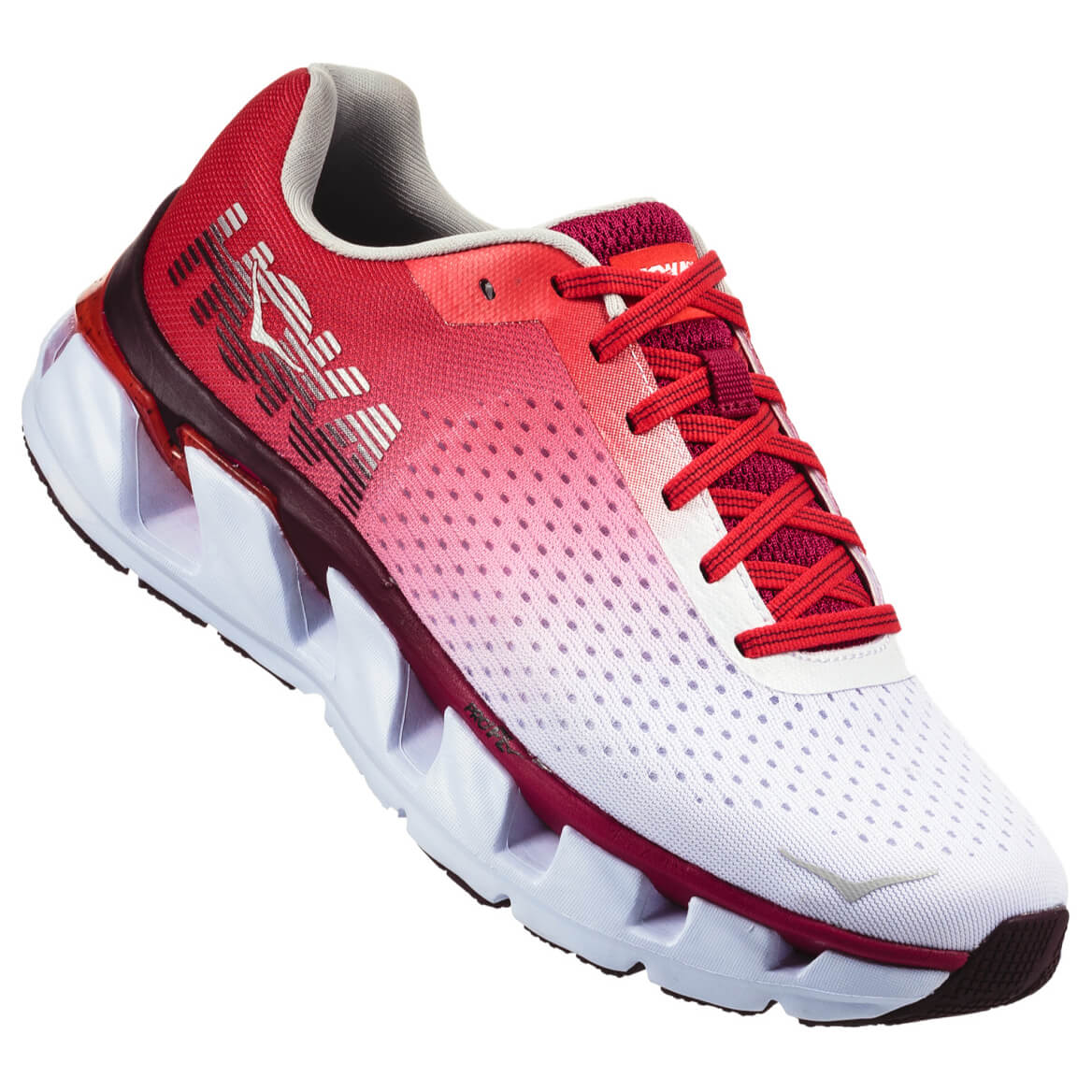 Hoka One One - Women's Elevon - Runningschuhe White / Cherries Jubilee