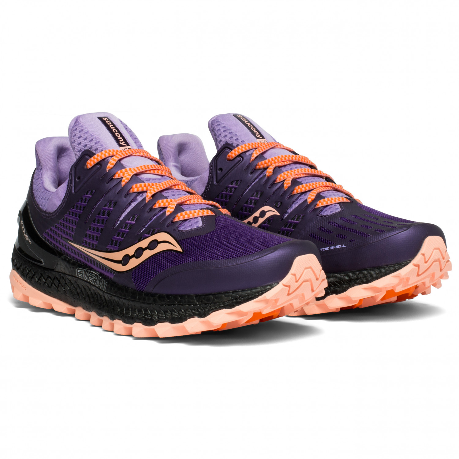 sports shoes d8357 a7052 Saucony - Women's Xodus Iso 3 - Trail running shoes - Purple / Peach | 6,5  (US)