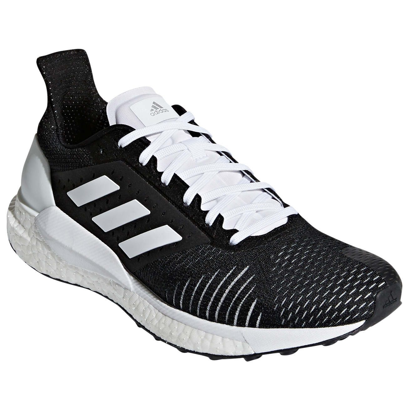 the latest 00a86 c9d80 adidas - Women's Solar Glide ST - Running shoes - Core Black / Core Black /  Ftwr White | 4,5 (UK)
