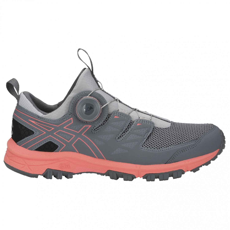 new style ef702 7bbbc Asics - Women's Gel-FujiRado - Trail running shoes - Mid Grey / Papaya |  5,5 (US)