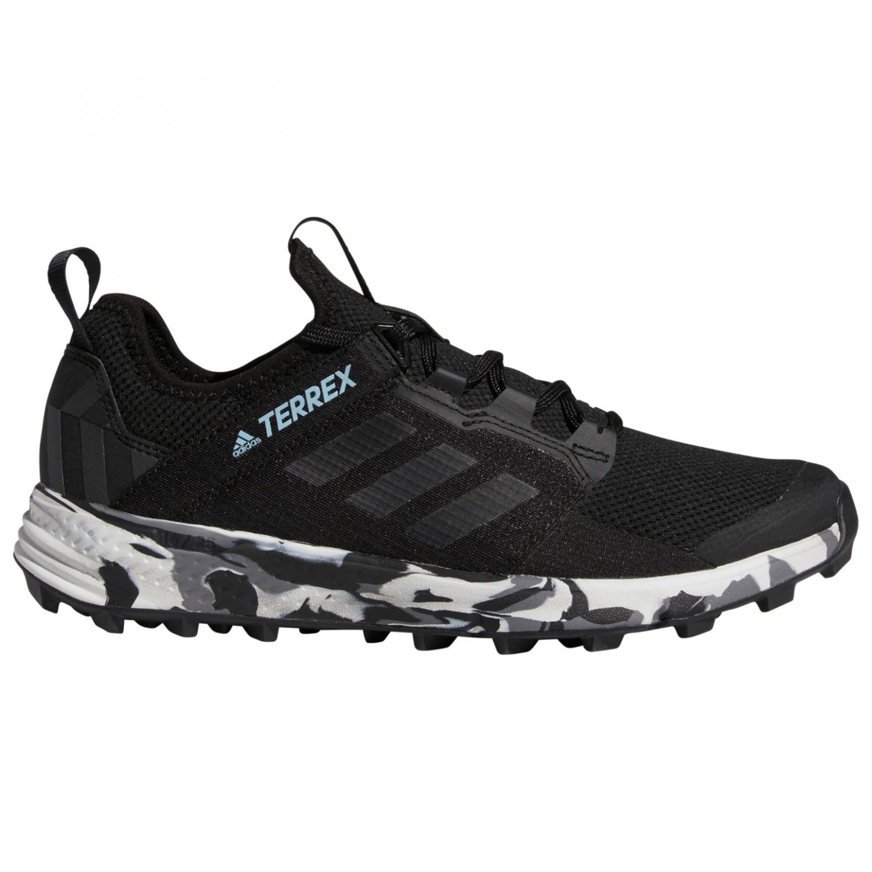 adidas Women's Terrex Agravic Speed + Trailrunningsko Core Black Non Dyed Ash Grey | 4 (UK)