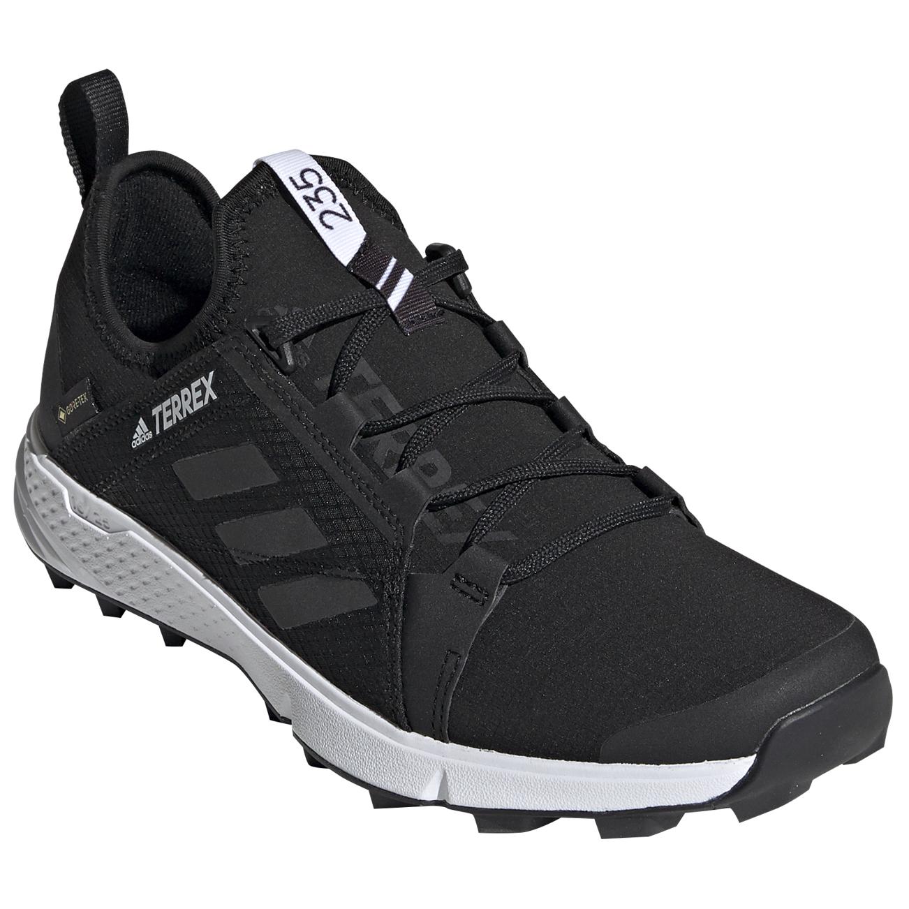 adidas - Women's Terrex Agravic Speed GTX - Trail running shoes - Core  Black / Core Black / Ftw White | 4 (UK)
