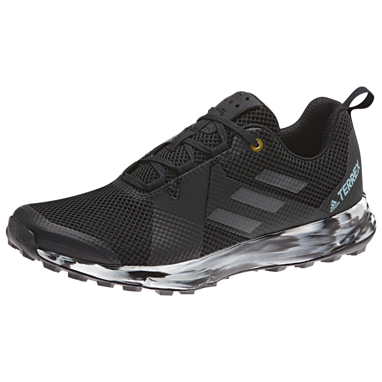 adidas Women's Terrex Two Chaussures de trail Core Black Carbon Ash Grey   4 (UK)