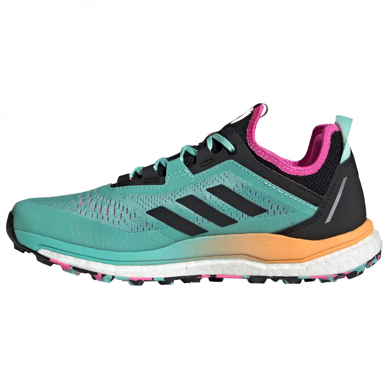 adidas - Women's Terrex Agravic Flow - Trail running shoes - Acid Mint / Core Black / Scream Pink | 4 (UK)