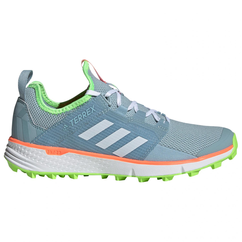 adidas Women's Terrex Speed LD Chaussures de trail Ash Grey S18 Ftwr White Signal Green | 4 (UK)