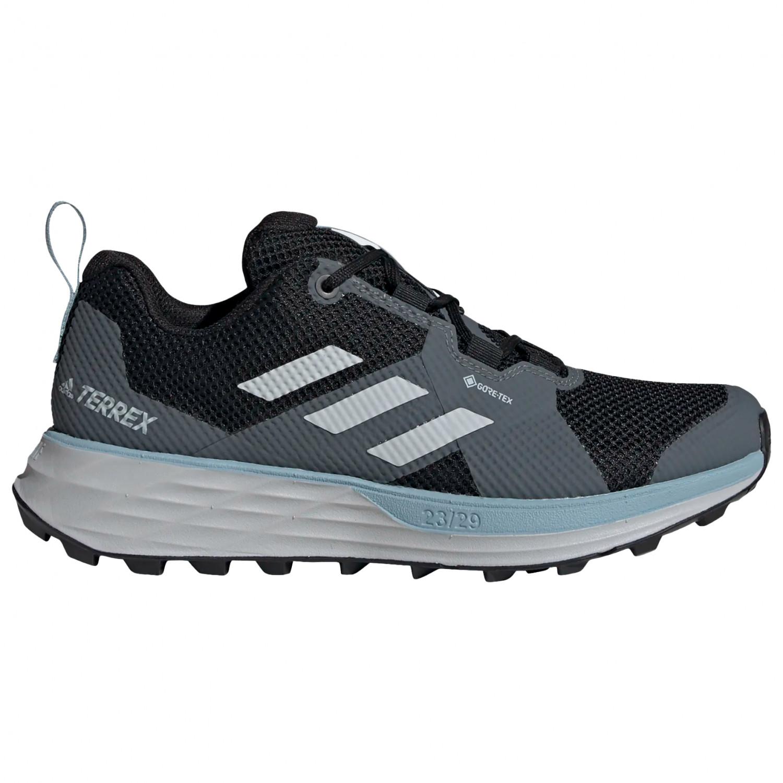 adidas - Women's Terrex Two GTX - Trail running shoes - Core Black / Grey Three / Ash Grey | 4 (UK)