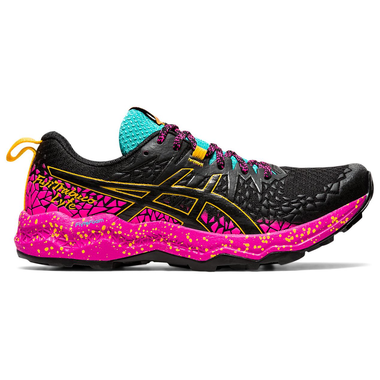 Asics - Women's FujiTrabuco Lyte - Trail running shoes - Black / Baltic Jewel | 5,5 (US)
