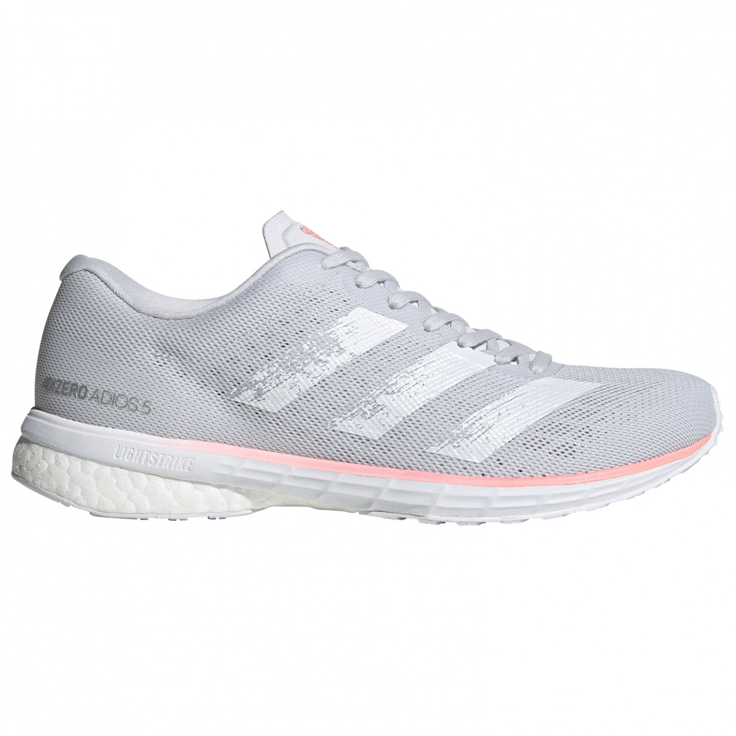 adidas - Women's Adizero Adios 5 - Running shoes - Dash Grey / Ftwr White /  Glory Pink | 4 (UK)