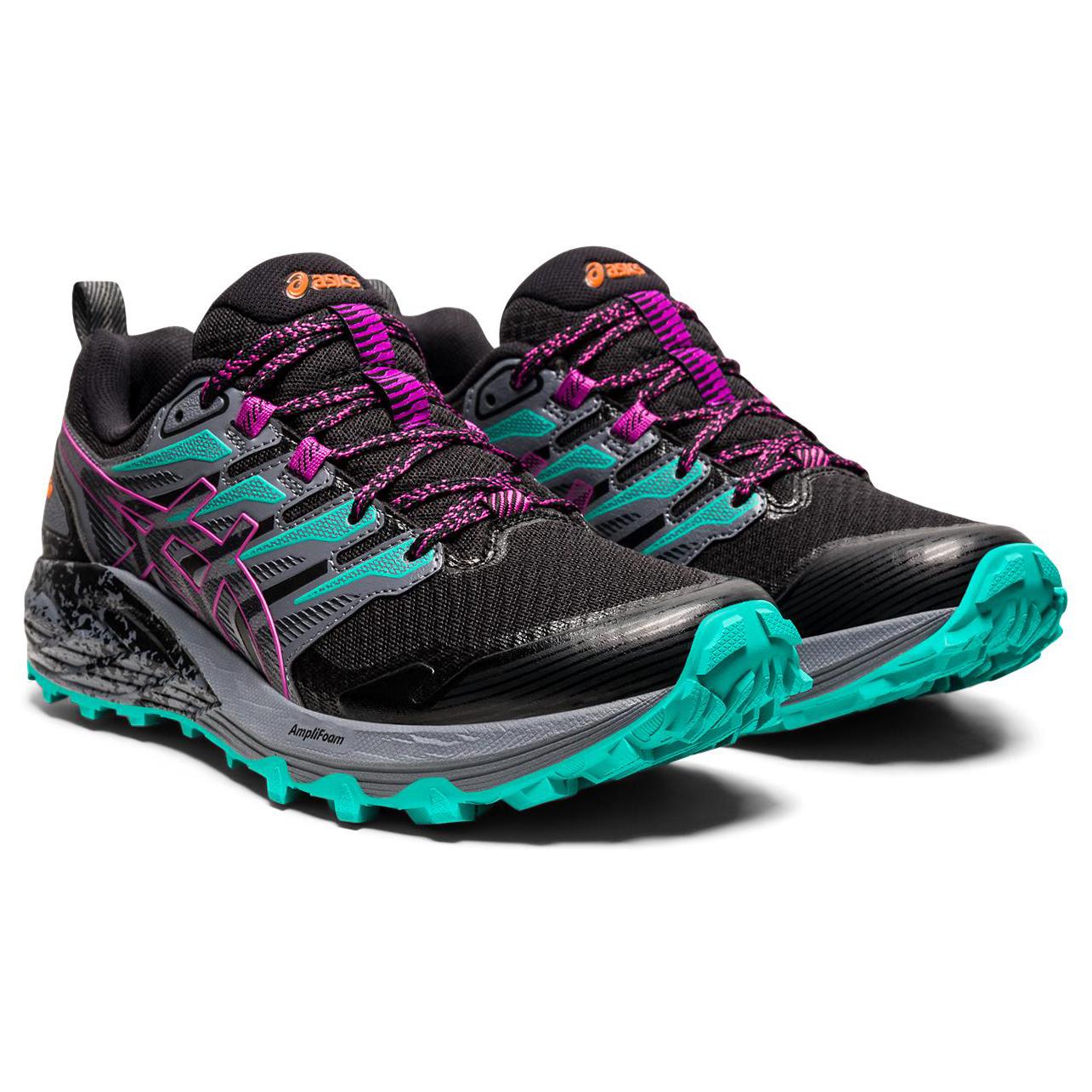 Asics - Women's Gel-Trabuco Terra - Trail running shoes - Black / Digital Grape   5,5 (US)